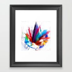 Dancing Peacock  Framed Art Print