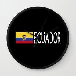 Ecuador: Ecuadorian Flag & Ecuador Wall Clock