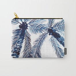 Indigo Navy, PALM TREES, upside down Carry-All Pouch