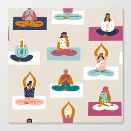 Morning yoga Canvas Print
