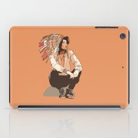 indie iPad Cases featuring Indie Chief by joshuahillustration