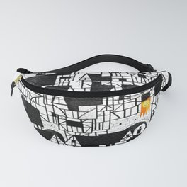 Illustration Abstract town Fanny Pack