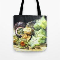 fruit Tote Bags featuring FRUIT by Anne Hviid Nicolaisen