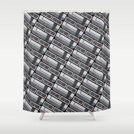 NES PIXEL PATTERN Shower Curtain