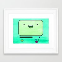 bmo Framed Art Prints featuring BMO by Some_Designs