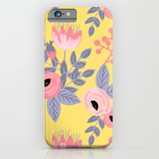Yellow Floral Pattern iPhone 6 Slim Case