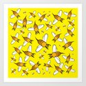 Bees on Yellow by brucestanfieldartistpatterns