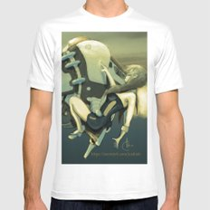 TELEFREIGHT SMALL White Mens Fitted Tee