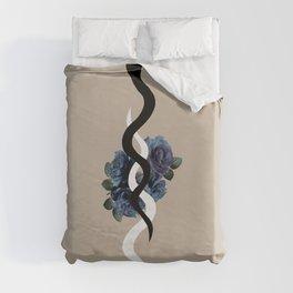 Yin Yang Snake Glam #1 #wall #art #society6 Duvet Cover