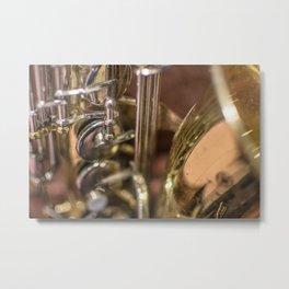 Saxophone detail Metal Print