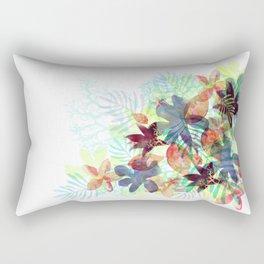Acqua Floral Rectangular Pillow