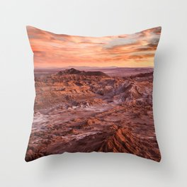 Desert orange Throw Pillow