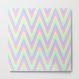Pastel Chevron Design Metal Print