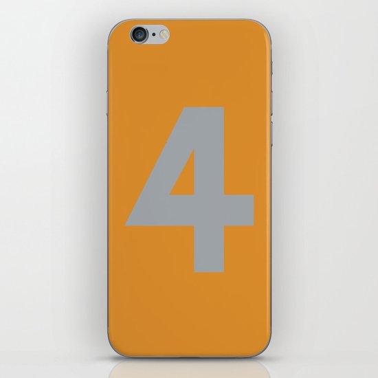 Number 4 iPhone & iPod Skin