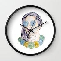ellie goulding Wall Clocks featuring ELLIE GOULDING  by Aidan Reece Cawrey