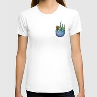 pocket fuel T-shirts featuring Pocket Series: Succulent Pocket by Fourd Simkins