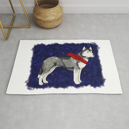 Grey Winter Husky Rug