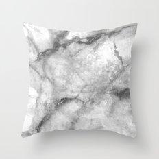 Black Marble Pattern Throw Pillow