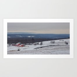 Wintertime in the Country Art Print