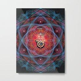 Hamsa - CHAI - Sacred Geometry Metal Print