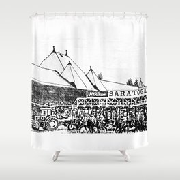 """""""The Starting Gate"""" Saratoga Springs Race Course Track Shower Curtain"""