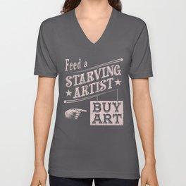 Feed an Artist Unisex V-Neck
