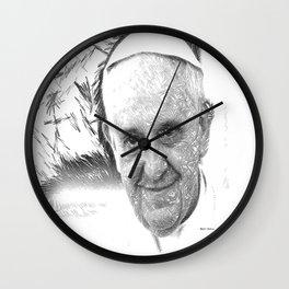 Pope Francis Wall Clock