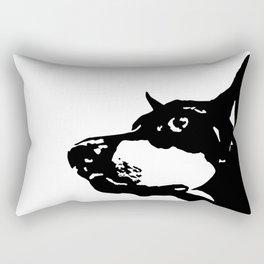 Doberman  Dog Rectangular Pillow
