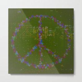 Peace B Wit U Metal Print
