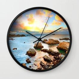 European Rock Beach Wall Clock