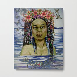 Yemaya, Goddess of the Sea Metal Print