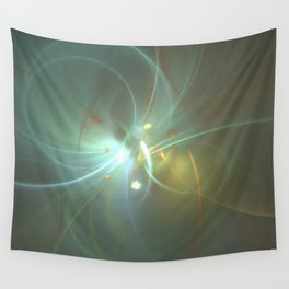 Holiday Glow Fractal Wall Tapestry