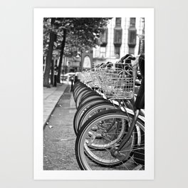 Bike Rack in Dublin Art Print