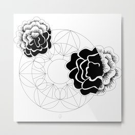 Roses mandala Metal Print