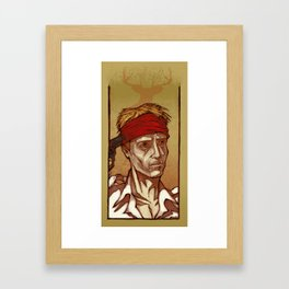 One Shot - Christopher Walken Framed Art Print