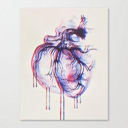 3D Heart Canvas Print