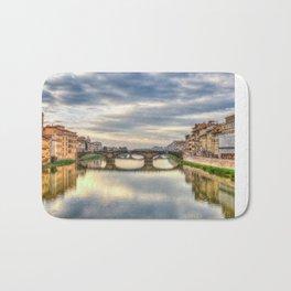 Arno River and Ponte Vecchio, Florence Bath Mat