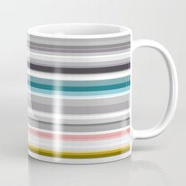 grey and colored stripes Coffee Mug