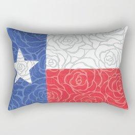 Texas Flag Roses Rectangular Pillow