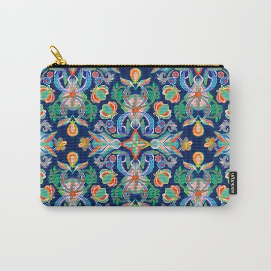 Boho Navy and Brights Carry-All Pouch