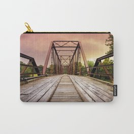 Sunset over an Old Wooden Bridge Carry-All Pouch