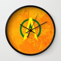 aquaman Wall Clocks featuring Aquaman by Some_Designs