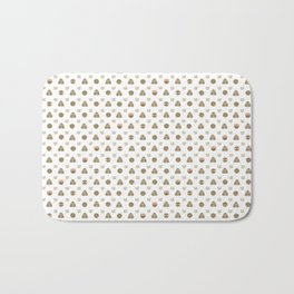 Emoji Gold White Bath Mat