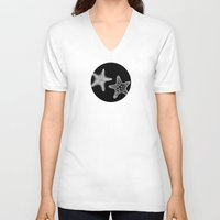starfish V-neck T-shirts featuring Starfish by Dana Martin