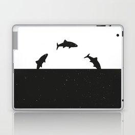 Fish print Black & White Laptop & iPad Skin