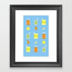 Juice Pattern Framed Art Print
