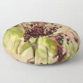 Elderberries Floor Pillow