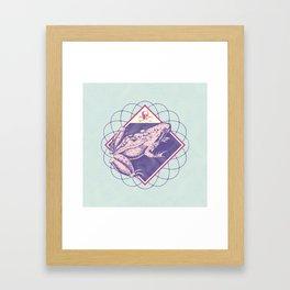 Pastel Poison Frog Framed Art Print