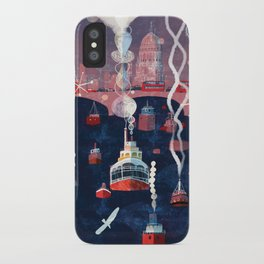 London, sound of the city iPhone Case