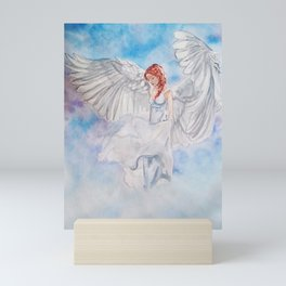 Stephanie, Angel that inspires trust Mini Art Print